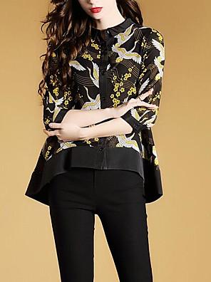 povoljno Majica-Žene Geometrijski oblici Majica Dnevno Crn