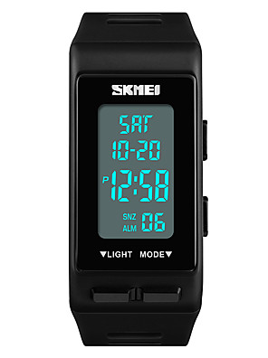 cheap Quartz Watches-SKMEI Women's Sport Watch Japanese Digital Quilted PU Leather Black / White / Blue 30 m Water Resistant / Waterproof Alarm Calendar / date / day Digital Casual Fashion - Red Green Blue One Year