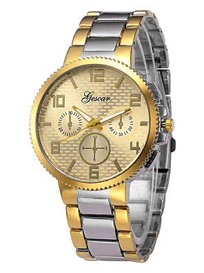 cheap Steel Band Watches-Men's Wrist Watch Quartz Minimalist Chronograph Analog Gold Silver / One Year / Stainless Steel
