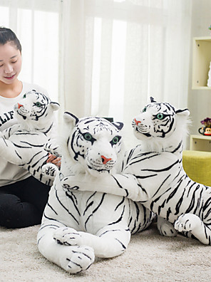 cheap Evening Dresses-Pillow Simulation Plush Toy Plush Dolls Stuffed Animal Plush Toy Tiger Animals Cool Plush Fabric Imaginative Play, Stocking, Great Birthday Gifts Party Favor Supplies Boys and Girls Adults Kids