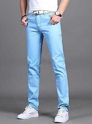 cheap Men's Pants & Shorts-Men's Basic Daily Slim Dress Pants Pants - Solid Colored Wine Black Army Green 28 / 29 / 30