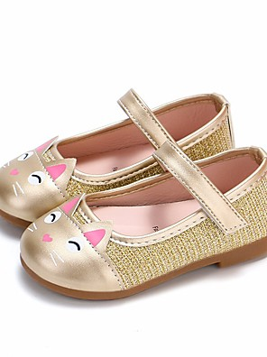 cheap Girls' Dresses-Girls' Comfort / Flower Girl Shoes PU Flats Toddler(9m-4ys) / Little Kids(4-7ys) Gold / Black / Pink Spring &  Fall