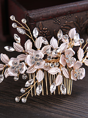 cheap Evening Dresses-Rhinestone / Alloy Hair Combs / Hair Stick / Hair Accessory with Rhinestone / Floral 1 Piece Wedding / Party / Evening Headpiece