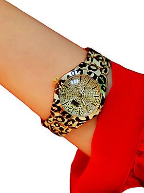 cheap Quartz Watches-Women's Wrist Watch Quartz White / Silver / Gold Chronograph Luminous Casual Watch Analog Ladies Sparkle Bangle - Silver Silver / Black Leopard / Imitation Diamond