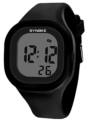 cheap Sport Watches-SYNOKE Men's Women's Sport Watch Digital Watch Digital Fashion Water Resistant / Waterproof Silicone Black / White / Blue Digital - White Black Yellow / Calendar / date / day / Chronograph
