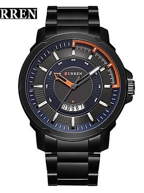 cheap Sport Watches-CURREN Men's Dress Watch Bracelet Watch Quartz Classic Water Resistant / Waterproof Silver Analog - Black / Blue Black Black / Orange / Stainless Steel / Calendar / date / day / Large Dial