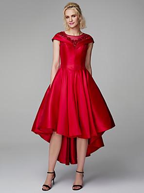 147897509 Princesa Joya Asimétrica Encaje   Mikado Largura Asimétrica Fiesta de Cóctel    Fiesta de baile Vestido