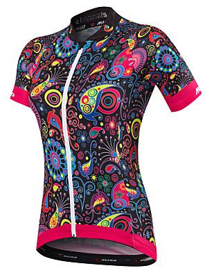 Malciklo Women s Short Sleeve Cycling Jersey - Black Bike Jersey a3b7e8843