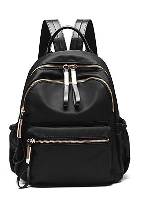 cheap Quartz Watches-School Bag / Commuter Backpack Women's PU Leather Zipper Daily Black