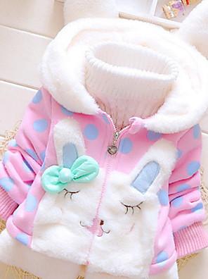 cheap Baby Girls' One-Piece-Toddler Girls' Active Polka Dot Long Sleeve Suit & Blazer Blushing Pink
