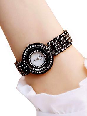 cheap Suits-Women's Wrist Watch Diamond Watch Quartz Ladies Water Resistant / Waterproof Black / White Analog - White Black / Chronograph / Luminous / Imitation Diamond