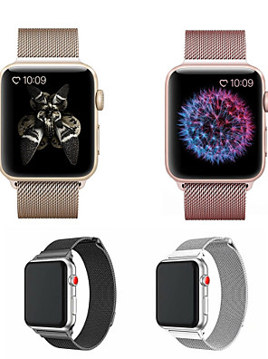 cheap Leather Watch Bands-Watch Band for Apple Watch Series 5/4/3/2/1 Apple Milanese Loop Stainless Steel Wrist Strap