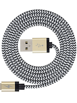 cheap Cell Phone Cables-Lightning Cable >=3m / 9.8ft Braided Nylon USB Cable Adapter For iPad / Apple / iPhone