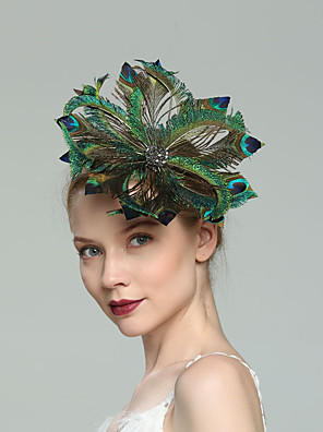 cheap Fascinators-Feathers Fascinators with Feather 1pc Wedding / Special Occasion / Tea Party Headpiece