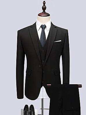 cheap Cocktail Dresses-Tuxedos Tailored Fit / Standard Fit Notch Single Breasted One-button Polyester Solid Colored
