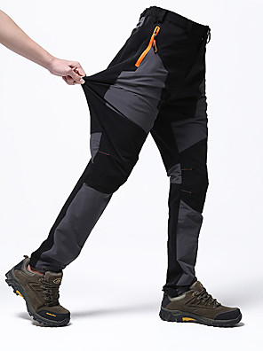 cheap Hiking Trousers & Shorts-Men's Hiking Pants Solid Color Summer Outdoor Waterproof Windproof Breathable Quick Dry Spandex Pants / Trousers Bottoms Green / Black Army Green Blue Grey Khaki Camping / Hiking Hunting Fishing L XL