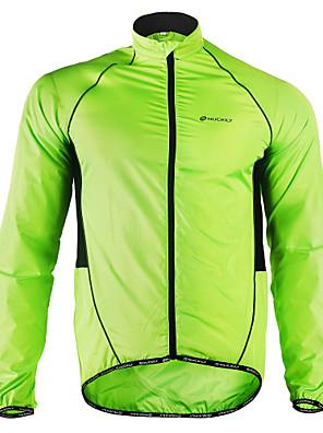 cheap Sport Watches-Nuckily Men's Cycling Jacket Winter Polyester Bike Jacket Windbreaker Raincoat Waterproof Windproof Breathable Sports Patchwork White / Black / Yellow Mountain Bike MTB Road Bike Cycling Clothing
