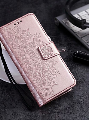cheap iPhone Cases-Case For Apple iPhone XS / iPhone XR / iPhone XS Max Wallet / Card Holder / with Stand Full Body Cases Flower Hard PU Leather