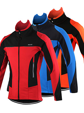 c3387fdd5 Arsuxeo Men s Cycling Jacket Bike Jacket Top Thermal   Warm Windproof  Breathable Sports Polyester Spandex Fleece