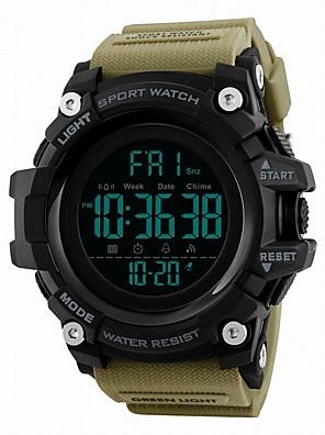 cheap Smart Watches-SKMEI Men's Sport Watch Digital Watch Digital Luxury Water Resistant / Waterproof Quilted PU Leather Black / Blue / Red Digital - Black Red Blue / Calendar / date / day / Dual Time Zones / Stopwatch