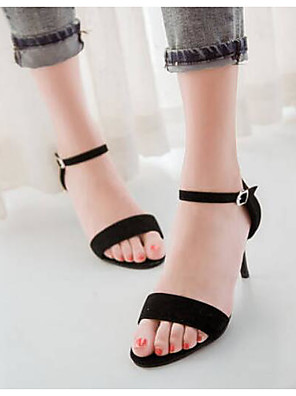 cheap Plus Size Dresses-Women's Sandals Plus Size Stiletto Heel Daily PU Summer Black / Purple / Green
