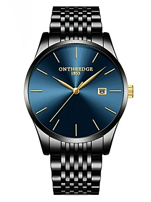 cheap Quartz Watches-ONTHEEDGE Men's Dress Watch Wrist Watch Japanese Quartz Classic Water Resistant / Waterproof Stainless Steel Black Analog - Blue / Black Black / Calendar / date / day
