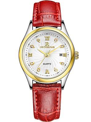 cheap Quartz Watches-Women's Wrist Watch Quartz Ladies Casual Watch Analog Black / Gold Brown / Gold Black / Silver / Genuine Leather / Genuine Leather