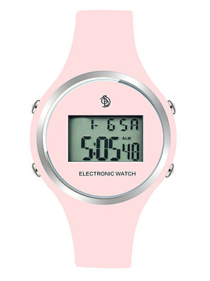 cheap Fashion Watches-Women's Wrist Watch Digital Ladies Calendar / date / day Silicone Black / Red / Pink Digital - Black Red Pink Two Years Battery Life / LCD / Tachymeter