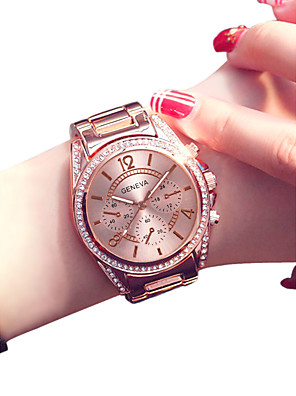 cheap Quartz Watches-Women's Wrist Watch Gold Watch Quartz Stainless Steel Silver / Gold / Rose Gold 30 m Creative Casual Watch Analog Ladies Fashion Elegant - Gold Silver Rose Gold