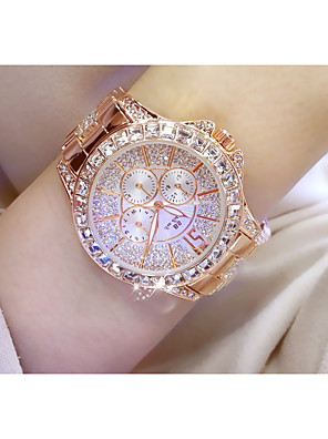 cheap Watches-Women's Wrist Watch Quartz Silver / Gold / Rose Gold Chronograph Cool Imitation Diamond Analog Fashion Elegant - Gold Silver Rose Gold / Silver / Stainless Steel