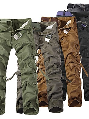 cheap Hiking Trousers & Shorts-Men's Hiking Pants Hiking Cargo Pants Outdoor Windproof Breathable Comfortable Wear Resistance Winter Cotton Pants / Trousers Bottoms Camping / Hiking Hunting Fishing Black Brown Army Green XXS XS S
