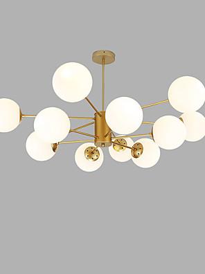 cheap Evening Dresses-12 Bulbs 104 cm Creative Chandelier Metal Glass Sputnik Gold / Painted Finishes Modern 110-120V / 220-240V