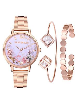 cheap Quartz Watches-Women's Ladies Wrist Watch Gold Watch Quartz Vintage Creative Stainless Steel Rose Gold Analog - White / Red White / Gold White / Brown