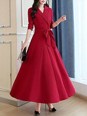 a9d18afea32 Women s Plus Size Party   Work Street chic   Sophisticated Maxi Shift    Swing Dress -