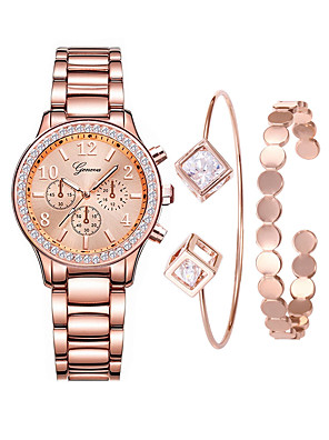 cheap Quartz Watches-Women's Luxury Watches Wrist Watch Gold Watch Quartz Ladies Creative Stainless Steel Rose Gold Analog - Digital - Rose Gold Rose Gold / Silver Rose Gold / White