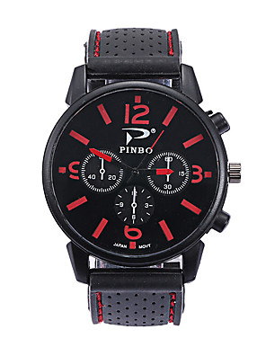 cheap Sport Watches-Men's Sport Watch Quartz Fashion Casual Watch Silicone Black Analog - White Yellow Red