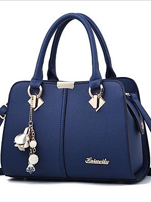 cheap Evening Dresses-Women's Zipper PU Shoulder Messenger Bag Black / Wine / Royal Blue