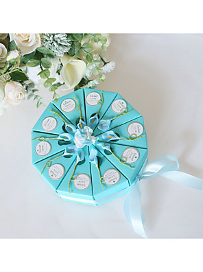 cheap Wedding Slips-Round Grosgrain / Art Paper Favor Holder with Satin Bow / Pattern / Print Favor Boxes / Gift Boxes - 10pcs