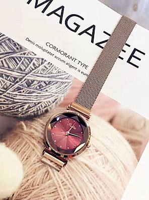 cheap Quartz Watches-Women's Dress Watch Wrist Watch Gold Watch Quartz Ladies Casual Watch Rose Gold Analog - Purple Red Dark Red