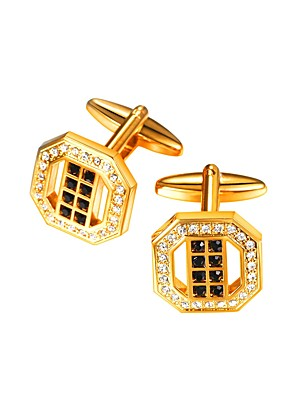 cheap Men's Accessories-Cufflinks Formal Brooch Jewelry Golden For Gift Daily