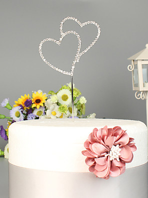 cheap Wedding Dresses-Cake Topper Beach Theme / Garden Theme / Classic Theme Stylish Alloy Wedding / Special Occasion with Crystals / Rhinestones 1 pcs OPP