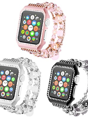 cheap Smart Watches-Metal Shell Watch Band Strap for Apple Watch Series 4/3/2/1 Black / White / Pink 23cm / 9 Inches 2.1cm / 0.83 Inches