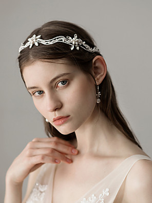 cheap Wedding Dresses-Pearl Headbands with Pearl 1 Piece Wedding / Party / Evening Headpiece