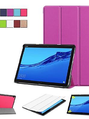 economico Custodie / cover per Huawei-Custodia Per Huawei Huawei Mediapad M5 Lite 10 / MediaPad M5 10 (Pro) / MediaPad M5 10 Con supporto / Con chiusura magnetica / Origami Integrale Tinta unita Resistente pelle sintetica