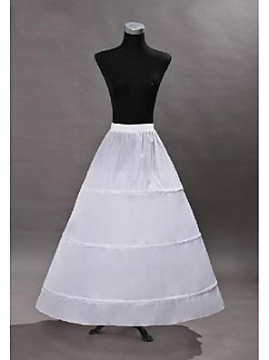 cheap Wedding Slips-Princess Dress Petticoat Hoop Skirt Tutu 1950s Gothic Medieval White Petticoat / Under Skirt / Crinoline