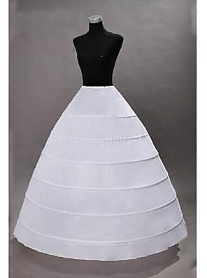 cheap Wedding Slips-Princess Petticoat Hoop Skirt Tutu Under Skirt Classic Lolita 1950s Gothic Black White / Medieval / Crinoline