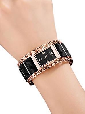 저렴한 쿼츠 시계-여성용 손목 시계 스퀘어 시계 석영 숙녀 방수 스테인레스 스틸 블랙 / 실버 / 레드 아날로그 - 로즈 골드 레드 골드