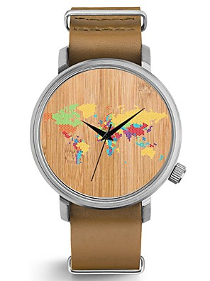 cheap Quartz Watches-Couple's Wrist Watch Quartz Bangle Chronograph Genuine Leather Black / Brown Analog - Brown black Black / Silver Black Two Years Battery Life / Japanese / Japanese