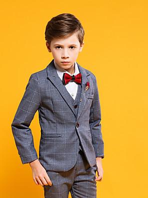 cheap Wedding Wraps-Gray POLY Ring Bearer Suit - 4 Pieces Includes  Jacket / Vest / Pants