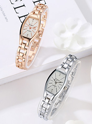 cheap Quartz Watches-Women's Quartz Watches Quartz Stylish Fashion Casual Watch Silver / Rose Gold Analog - Golden+Black Golden+White White One Year Battery Life